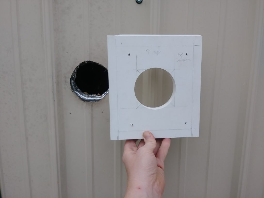 how to mount an exhaust fan with vinyl siding